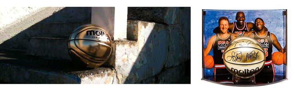 BG-SL7 Piłka do koszykówki Molten Gold kolekcjonerska złota